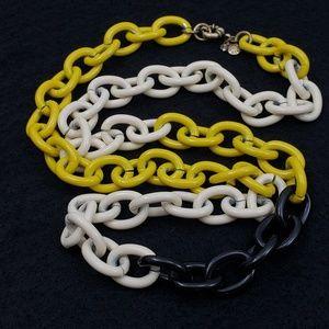 J. Crew Sweater Necklace Enamel Links